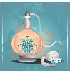 Perfume pump bottle vector image