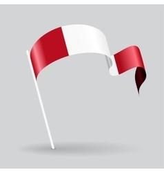 Peruvian wavy flag vector image