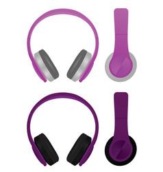 Purple headphones vector