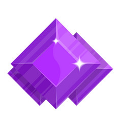 purple jewelry amethyst icon vector image