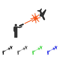 Rebel strikes airplane flat icon vector