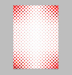 red diagonal square pattern page template vector image