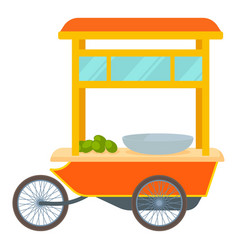 red fast food trolley bike icon cartoon style vector image
