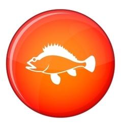 Rose fish Sebastes norvegicus icon flat style vector image