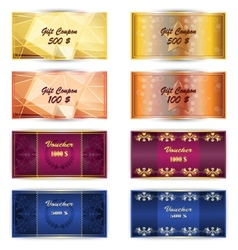 Set of gift coupon gift card vector image