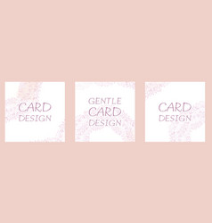 set square cards with a delicate pattern of vector image
