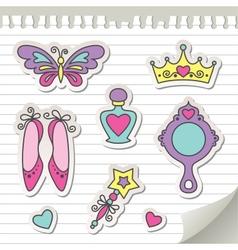 Set stickers vector