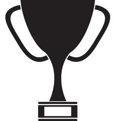 silhouette trophy award sport win sport vector image
