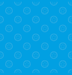 soccer ball pattern seamless blue vector image