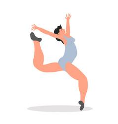 split jump girl gymnast creative vector image