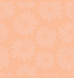 subtle floral background coral pink aster dahlia vector image