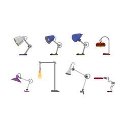 Table lamp for office cartoon style vector