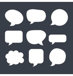 Text balloon design vector