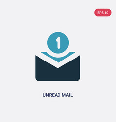 two color unread mail icon from user interface vector image