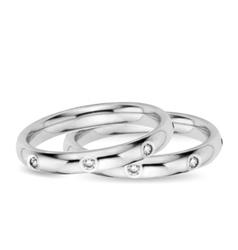 Two Wedding Diamond Rings vector