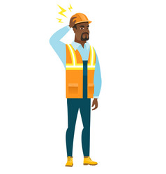 african builder with lightning over his head vector image