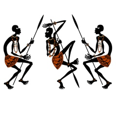 africans vector image