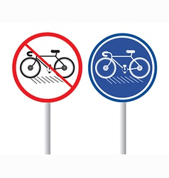 Bicycles Signs vector image vector image