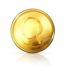 Gold coin vector image vector image