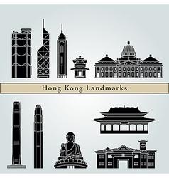 Hong Kong V2 landmarks and monuments vector image