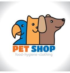 Logo shop pet vector image