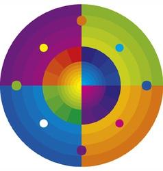 rainbow mandala vector image