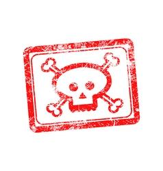 Rubber grunge stamp skull and bones symbol vector image vector image