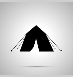 tourist tent silhouette simple black icon vector image