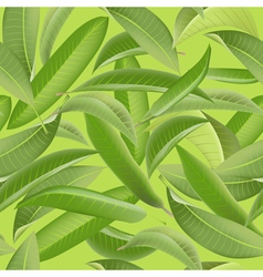 Tropical Leaves Background Vintage Seamless vector image vector image