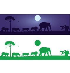 Wild Animals Wall Decal vector image vector image