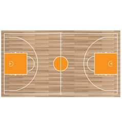 wooden baseball court top view icon isolated on vector image