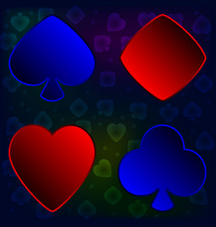 A set of card suits for poker vector