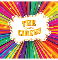 funny circus poster design vector image vector image