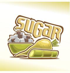 logo of sugar vector image