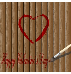 red heart paint vector image vector image