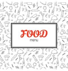 Restaurant menu design Menu template with hand vector image