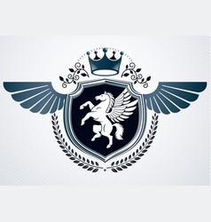 Retro insignia design decorated using vintage vector