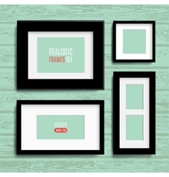set of modern blank frames template vector image vector image