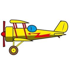 Vintage plane vector image