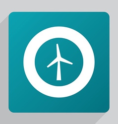 flat wind mill icon vector image