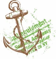 green anchor vector image vector image