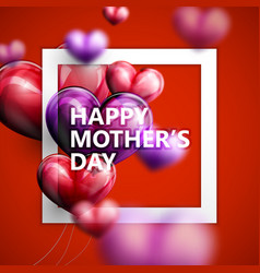 Happy Mothers Day label with flying balloon vector image vector image