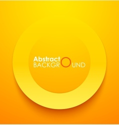 Paper orange circle banner with drop shadows vector image vector image
