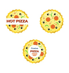 Set of Emblems with a Pizza vector image