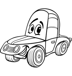 car cartoon for coloring book vector image vector image
