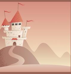 castle landscape 2 vector image