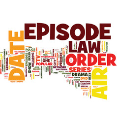Law and order dvd review text background word vector