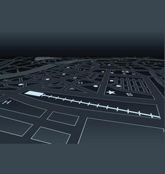 night street map vector image vector image