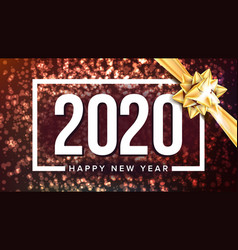 2020 happy new year holiday greeting poster vector