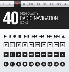 40 hi quality radio navigation icons vector
